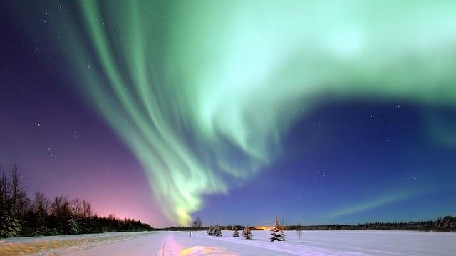 paysage aurore boreale