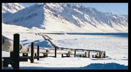 le pipeline qui traverse l'Alaska du nord au sud